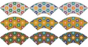 地紙に亀甲パターン2
