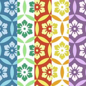 七宝パターン9 六つ花