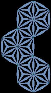 三つ繋ぎ麻の葉